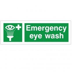 Emergency Eye Wash First Aid Sign - 300mm x 100mm