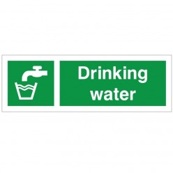 Drinking Water First Aid Sign - 300mm x 100mm