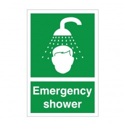 Emergency Shower First Aid Sign 200mm x 300mm