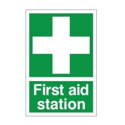 First Aid Station Sign With Symbol - 200mm x 300mm