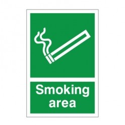 Smoking Area Sign 200mm x 300mm