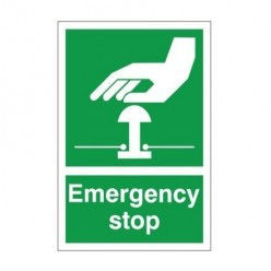 Emergency Stop Sign - 200mm x 300mm