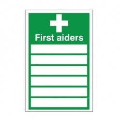 First Aiders Sign 200mm x 300mm