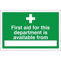 First Aid For This Department Sign - 300mm x 200mm