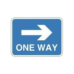 One Way Sign 600 x 450mm