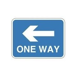 One Way Sign Left