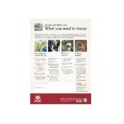 Health And Safety Law Poster W425mm x H600mm