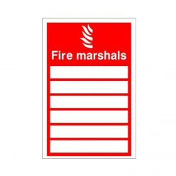 Fire Marshall Sign 150mm x 200mm