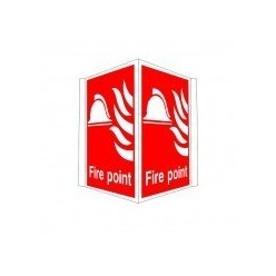 Fire Point Projecting Sign  400 X 300mm