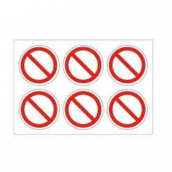 No Entry Labels Pack of 24