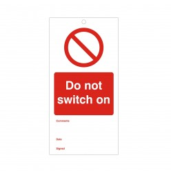 Do Not Switch On Maintenance Tag