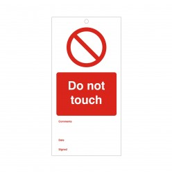 Do Not Touch Maintenance Tag