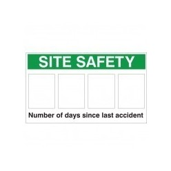 Number of Days Since Last Accident Sign 900mm x 600mm