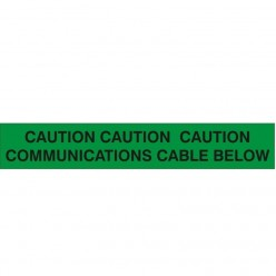 CAUTION CAUTION CAUTION: COMMUNICATIONS CABLE BELOW