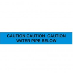 CAUTION CAUTION CAUTION: WATER PIPE BELOW