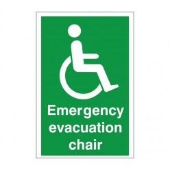 Emergency Evacuation Chair First Aid Sign - 200mm x 300mm