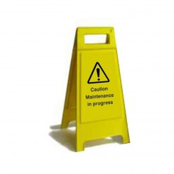 Caution Maintenance In Progress Free Standing Sign