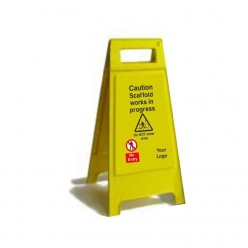 Caution Scaffold Works In Progress Free Standing Sign