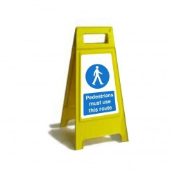 Pedestrians Must Use This Route Free Standing Sign
