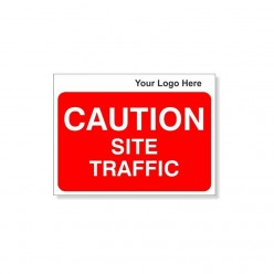 CAUTION Site Traffic Site Traffic Sign With Your Logo 600X450mm