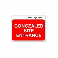 Concealed Site Entrance Site Traffic Sign With Your Logo 600X450mm