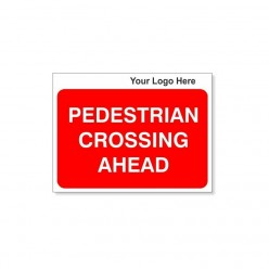 Pedestrian Crossing Ahead Site Traffic Sign With Your Logo 600X450mm