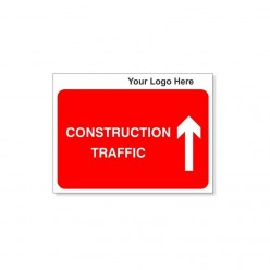 Construction Traffic Arrow Up Site Traffic Sign With Your Logo 600X450mm