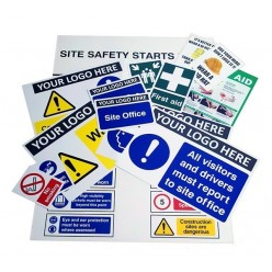 Custom Construction Sign Safety Pack