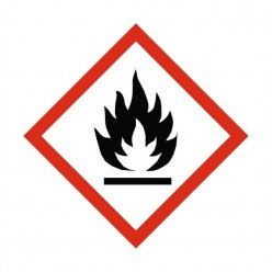 Highly Flammable Label Sticker 100X100mm