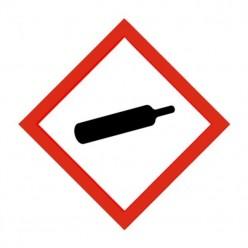 Compressed Gas Label Sticker 100X100mm