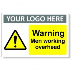 Warning Men Working Overhead Custom Logo Sign