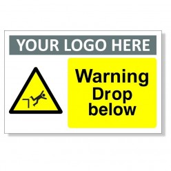 Warning Drop Below Sign