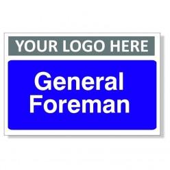 General Foreman Custom Logo Door Sign - 300mm x 200mm