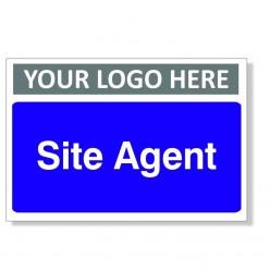 Site Agent Custom Logo Door Sign - 300mm x 200mm