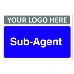 Sub Agent Custom Logo Door Sign - 300mm x 200mm