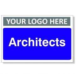 Architects Custom Logo Door Sign - 300mm x 200mm
