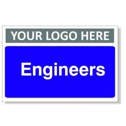 Engineers Custom Logo Door Sign - 300mm x 200mm