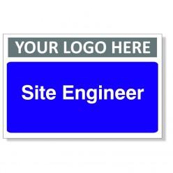Site Engineer Custom Logo Door Sign - 300mm x 200mm