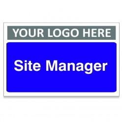 Site Manager Custom Logo Door Sign - 300m x 200mm