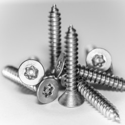 """Stainless Steel Star Pin Button Self Tapping Screw 8 x 1"""" Pack of 10"""
