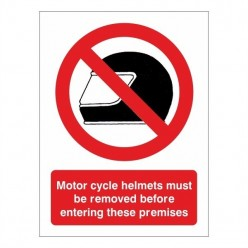 Motor Cycle Helmets Must Be...