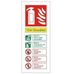 Wet Chemical Fire Exinguisher Identificaion Sign