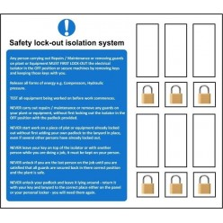 Safety lock-out isolation system sign
