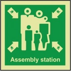 Assembly station 100x110mm sign
