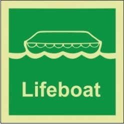 Lifeboat 100x110mm sign