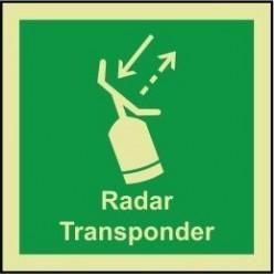 Radar transponder 100x110mm sign