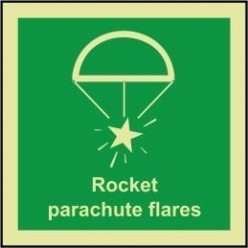 Rocket parachute flares sign 100x110mm