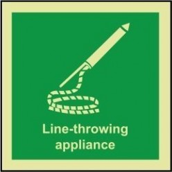 Line throwing appliance sign 100x110mm