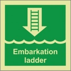 Embarkation ladder sign 100x110mm