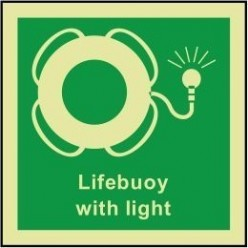 Lifebuoy with light sign 100x110mm